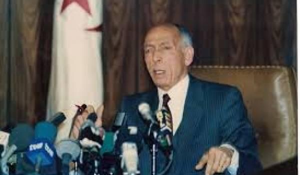 Boudiaf, victime d'une haute trahison. Il paya de sa vie sa volonté de réformer le pouvoir.