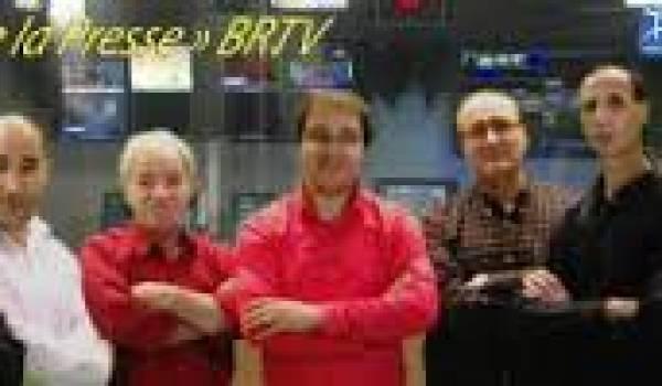 Les animateurs du Club de la presse de BRTV.