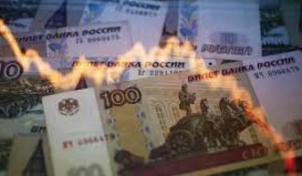Le rouble en chute.
