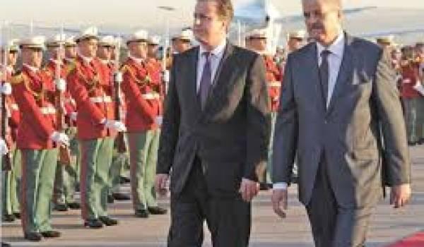 David Cameron et Abdelmalek Sellal. Photo prise en janvier 2013 à Alger