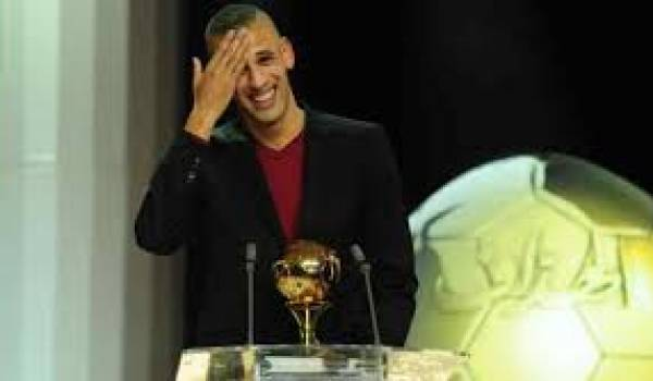 Islam Slimani à la réception du Ballon d'or.
