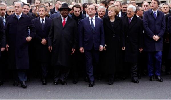 Une cinquantaine de chefs d'Etat et personnalités étaient à la manif.