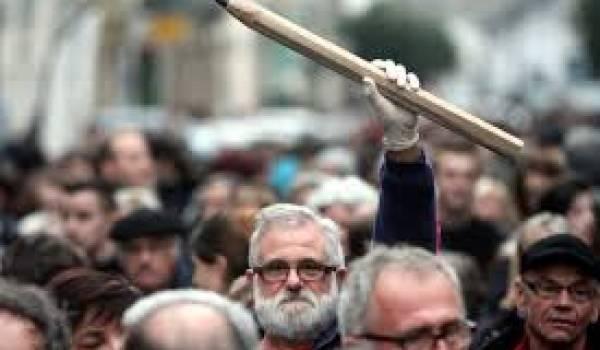 Les marcheurs de Paris pour dénoncer le terrorisme.