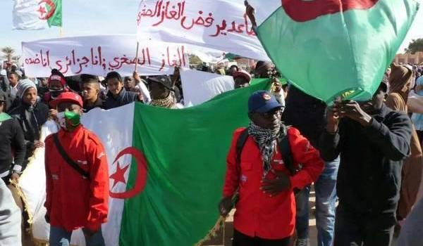 Solidaires des manifestants d'In Salah opposés gaz de schiste.
