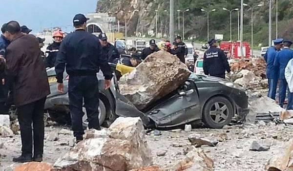 L'éboulement de rochers a fait sept morts et de nombreux blessés