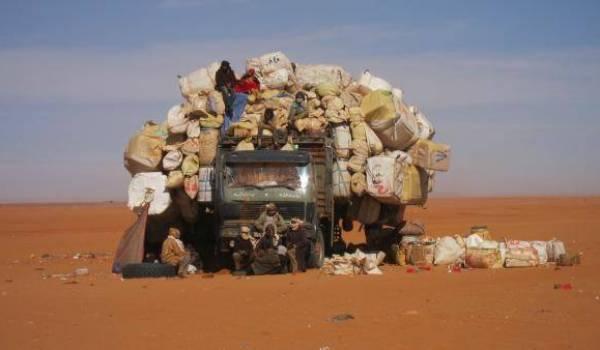 Le Sahara et ses routes des trafics en tous genres.