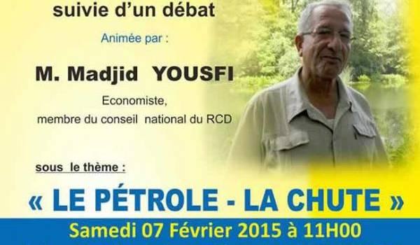 Le RCD organise une conférence à Akbou avec Madjid Yousfi