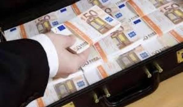 Une banque privée couvre le transfert de millions d'euros.