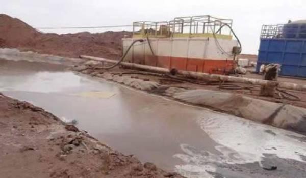 Site d'exploration du gaz de schiste d'Ahnit.