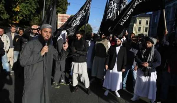 Manifestation de salafistes en Norvège.