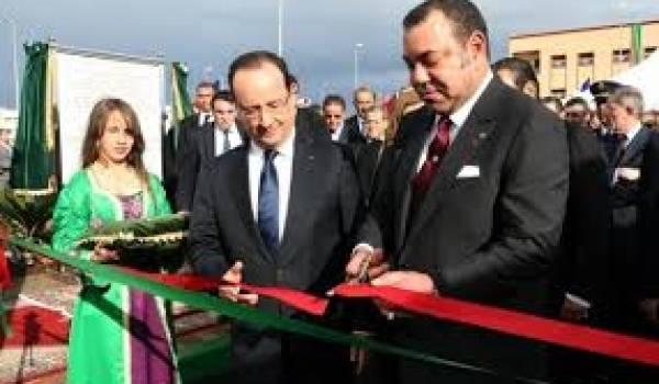 François Hollande et le roi Mohammed VI.