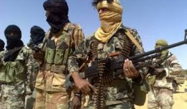Des combattant du Mouvement de libration de l'Azawad.