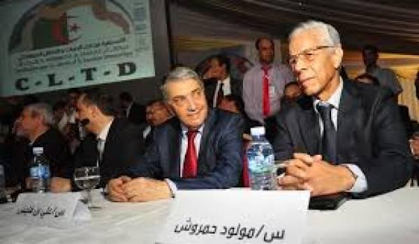 Ali Benflis et Mouloud Hamrouche, deux anciens chefs de gouvernement, passé dans l'opposition.
