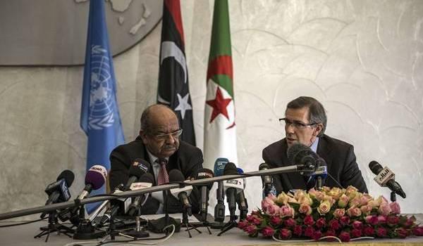 Abdelkader Messahel et Bernardino Leon à Alger.