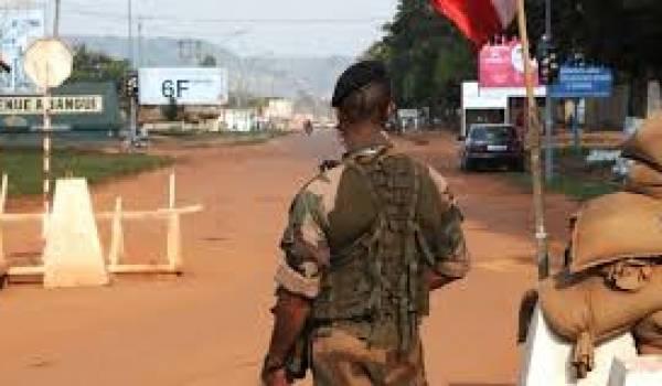 Les forces françaises à Bangui