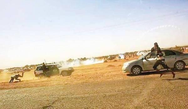 Le pouvoir sort les gendarmes et les matraque pour réprimer à In Salah.