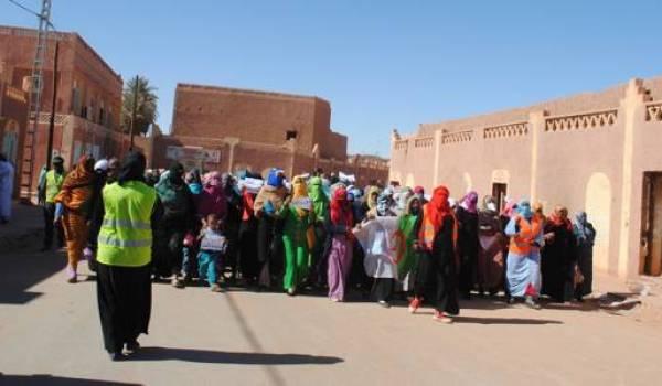 La formidable mobilisation des femmes d'In Salah dans les manifestations contre le gaz de schiste.
