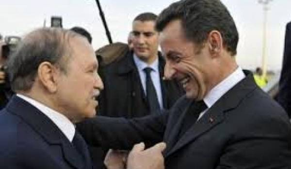 Abdelaziz Bouteflika et Nicolas Sarkozy, une grande complicité.
