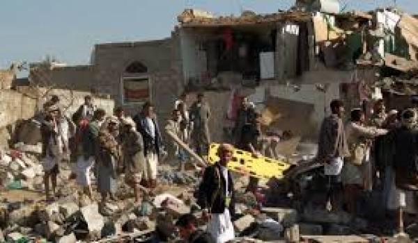 L'aviation arabe a pilonné la capitale du Yémen.
