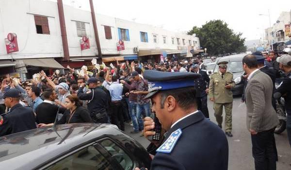 La manifestation pacifique des Amazighs a été réprimée par la police marocaine.