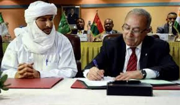 Bilal Ag Cherif, le président de la CMA avec Ramtane Lamamra.
