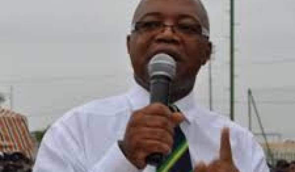 André Mba Obame, opposant gabonais.