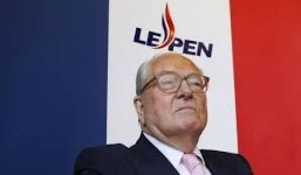Jean-Marie Le Pen, président d'honneur du parti d'extrême droite FN.