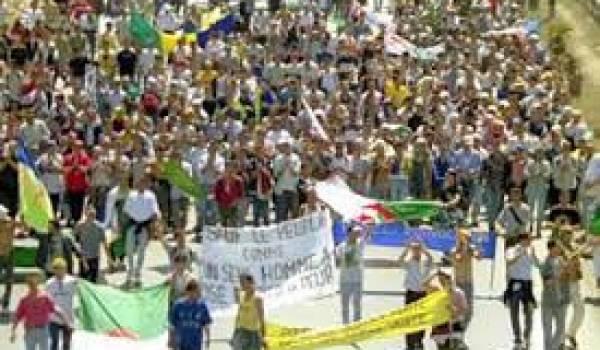 Une des nombreuses marches pour la reconnaissance de tamazight