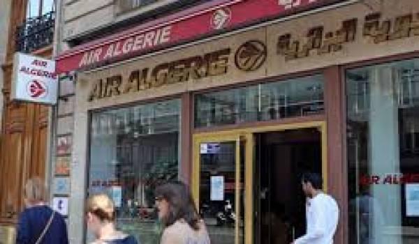 L'agence Air Algérie de la place de l'Opéra à Paris (France).