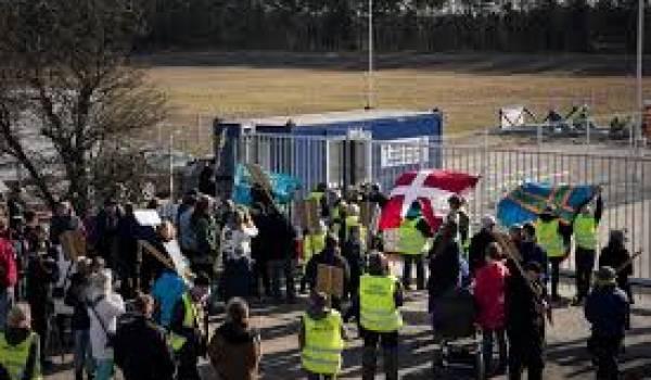 Des opposants au gaz de schiste au Danemark.