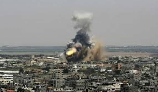 Gaza sous les bombes israéliennes.