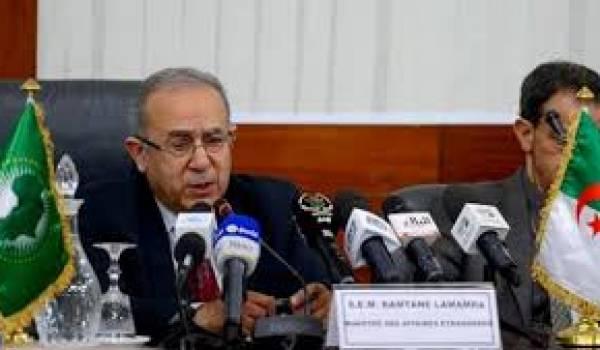 Ramtane Lamamra, ministre des Affaires étrangères.