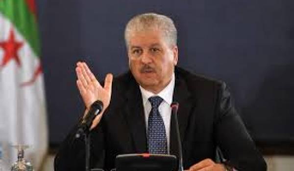 Abdelmalek Sellal somme ses ministres à déclarer leur patrimoine avant le remaniement