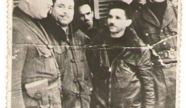Au Congrès de la Soummam, de gauche à droite: Saïd Mohammed (Si Nacer), Amar Ouamrane, Mouloud  Amrouche (Si Lmouloud Awakour),et Amirouche Ait Hamouda.
