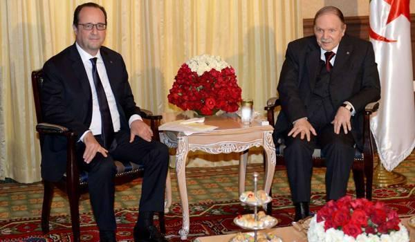 Abdelaziz Bouteflika et François Hollande.