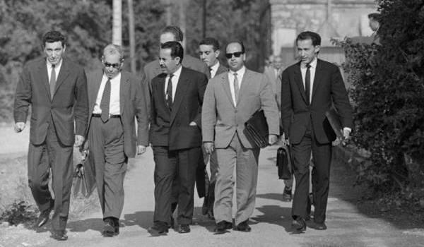 La délégation du GPRA sous la conduite de Krim Belkacem aux négociations qui ont suivi Melun.