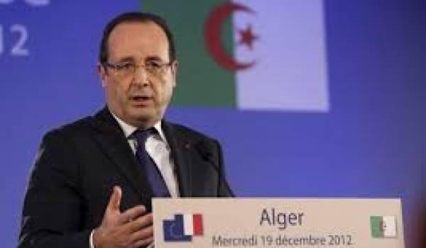 Bien curieux ce déplacement de quelques heures de Hollande à Alger.