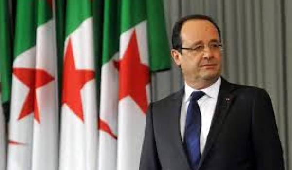 Le président français François Hollande sera à Alger lundi.