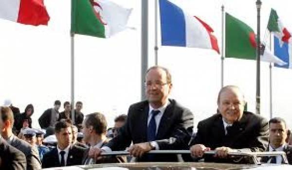 La dernière visite du président français à Alger en décembre 2012 .