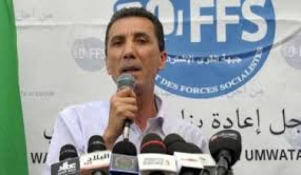 Mohamed Nebou, le premier secrétaire du FFS