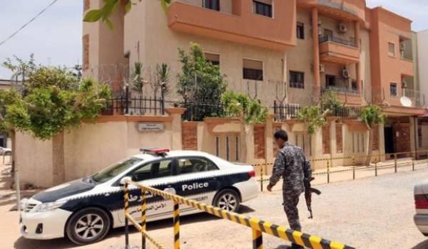 Le consulat de Tunisie que la milice Fajr Libya a attaquée.