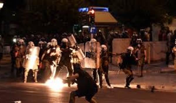 Des heurts ont eu lieu à Athènes mercredi.