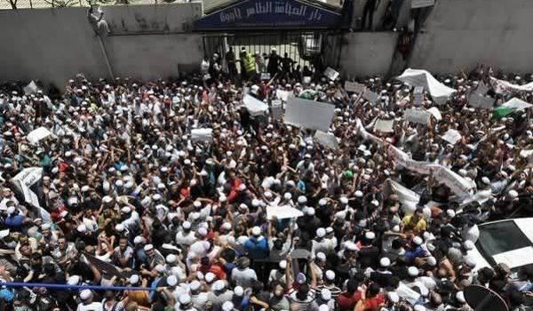 Des centaines de Mozabites ont manifesté mercredi à Alger.