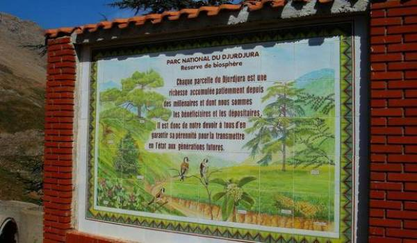 Panneau du Parc du Djurdjura