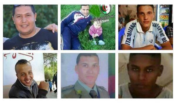 Les photos de six des treize soldats de l'ANP morts dans deux embuscades samedi.