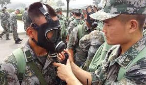 L'armée chinoise confirme la présence de gaz toxiques.