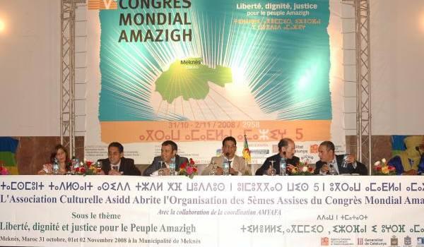 Des membres du Congrès mondial amazigh