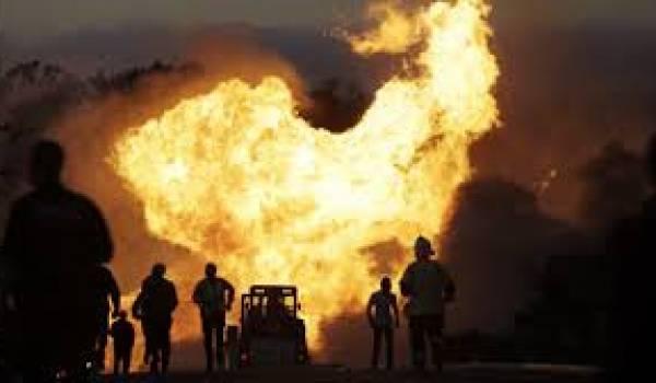 Nuit de feu dans la zone industrielle de Batna.