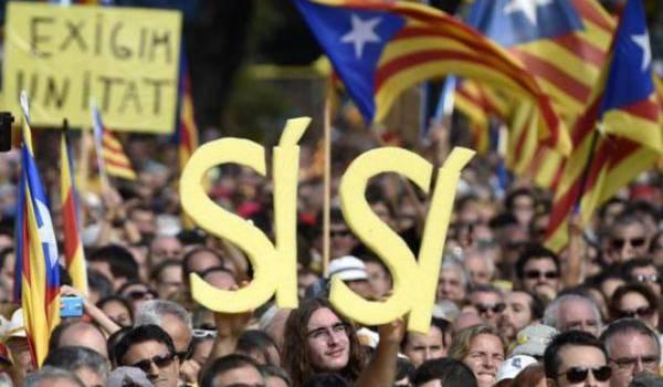 Les Catalans en force pour l'indépendance.