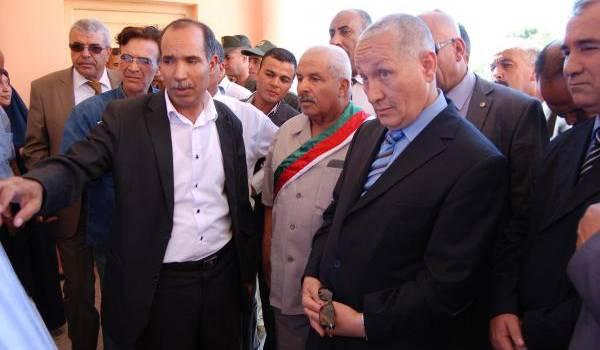 Sellamani Mohamed, chef de l'exécutif, au cours de sa sortie d'inspection.